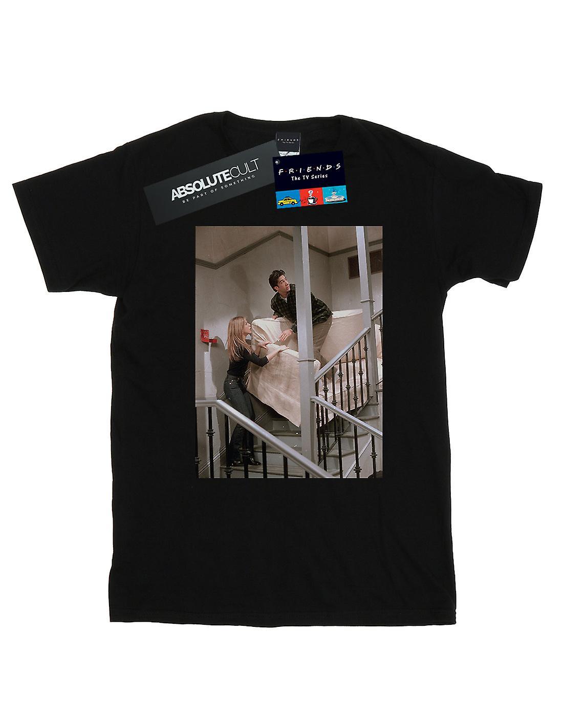 Friends Women's Sofa Stairs Photo Boyfriend Fit T-Shirt