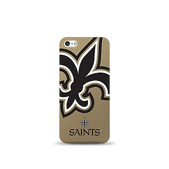5 Pack -Mizco Sports NFL Oversized Snapback TPU Case for Apple iPhone 5 / 5S / SE (New Orleans Saints)