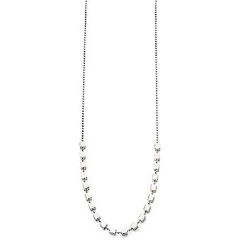 Beginnings Cubes On Ball Chain Necklace - Silver