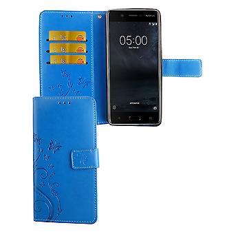 Mobiltelefon fallet för Nokia 5.1 / Nokia 5th 2018 Pocket plånbok skydd täcker fall blå