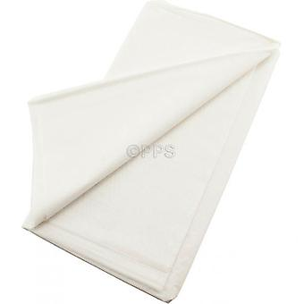Pack of 2 Table Covers Plastic White 54inch x 54'inch Reusable Table Cloth