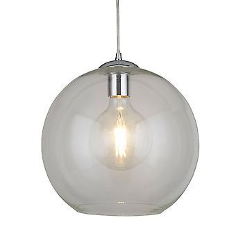 Boules de Chrome grand pendentif verre clair - projecteur 1632CL