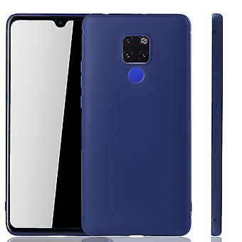 Huawei Mate 20 Handyhülle Schutzcase Backcover Tasche Hülle Case Bumper Blau