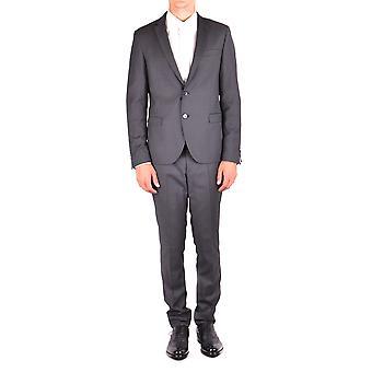 Manuel Ritz Ezbc128027 Men's Grey Polyester Suit