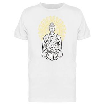 Sitting Buddha Lotus Pose Art Tee Men's -Image by Shutterstock