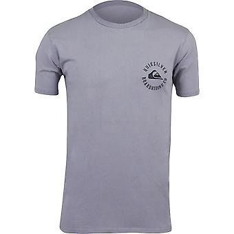Quiksilver Mens Skulled Cotton Crew Casual T-Shirt - Purple Ash