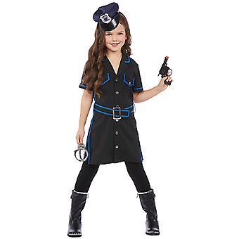 Polizistin Kinder Kostüm für Mädchen Cop Gendarmin