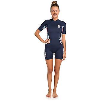 Rip Curl Dawn Patrol 22 Short Sleeve Neoprene Swimsuit in Navy