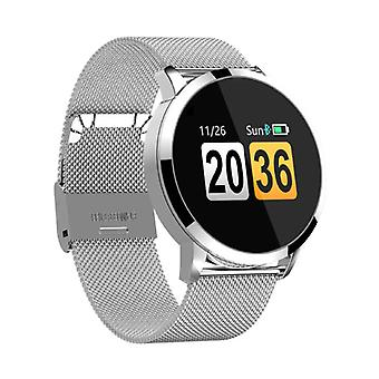 Stuff Certified® Original Q8 Smartband Sport Smartwatch Smartphone Watch OLED iOS Android Silver Metal