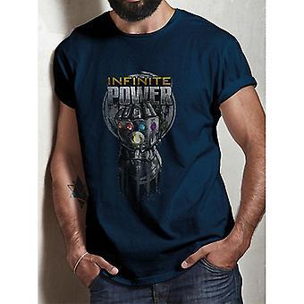 Avengers: Infinity vojny dospelí Unisex dospelých moc rukavice T-shirt