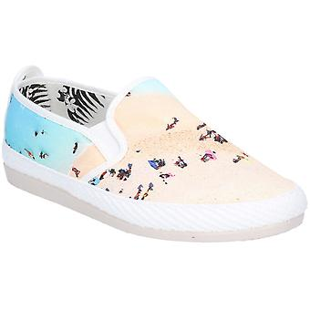 Flansy Womens Pastel Slip On Casual Summer Pump Shoes