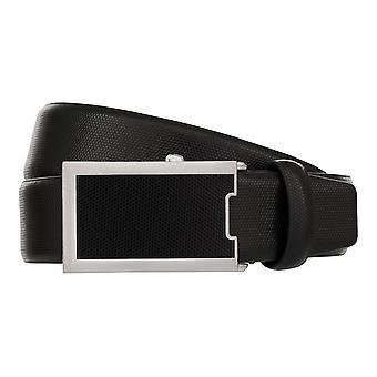 MONTI Automatic Clasp OSAKA Belt Men's Belt Leather Belt Black 8028
