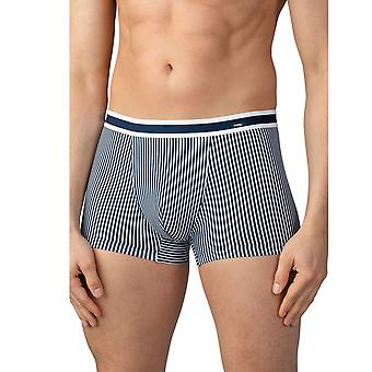 Mey 33421-668 Men's Stripe Yacht Blue Cotton Fitted Boxer