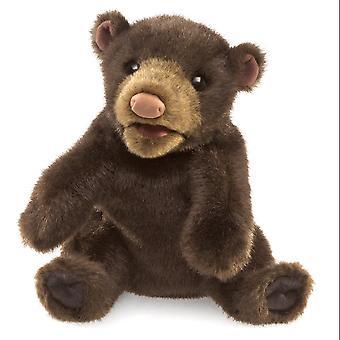 Hand Puppet - Folkmanis - Bear Small Black Soft Doll Plush 3107