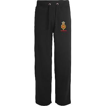 Vétéran de cavalerie de ménage - Licensed British Army Embroidered Open Hem Sweatpants / Jogging Bottoms
