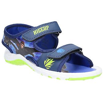 Leomil Kids How to train your dragon Classic Sandals touch fastening shoe Navy