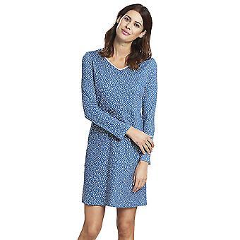 Rosch 1193654-16411 Women's Smart Casual Glacier Blue Spotted Drops Cotton Nightdress