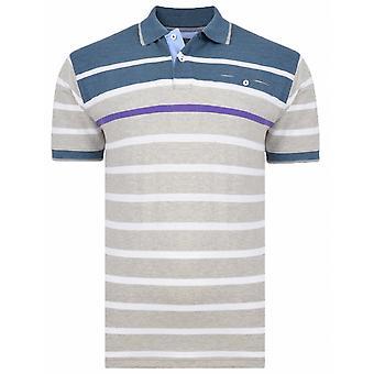 KAM Kam Fashion Stripe Pique Polo