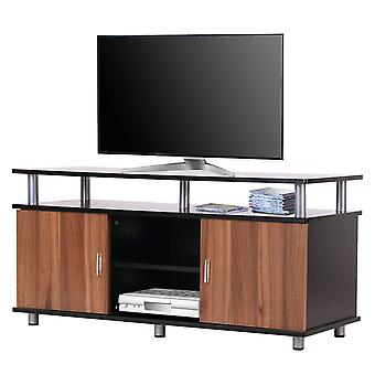 HOMCOM 120CM Wooden TV Cabinet Stand TV Storage Unit Console Living Room Entertainment Center Media Furniture