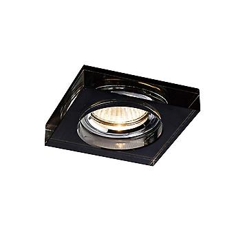Diyas Crystal Downlight Deep Square Rim Only Black, IL30800 Required To Complete The Item