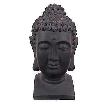 Buddha hodet svart-grå 41 cm