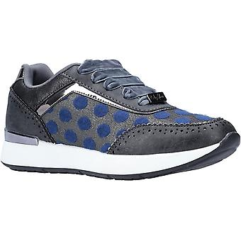 Ruby Shoo Womens Darcy Velvet Lace Up Trainer