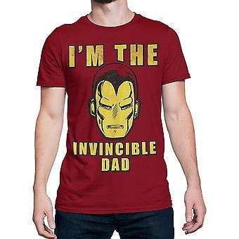 アイアンマンI'm無敵のお父さんメン&アポス;s Tシャツ