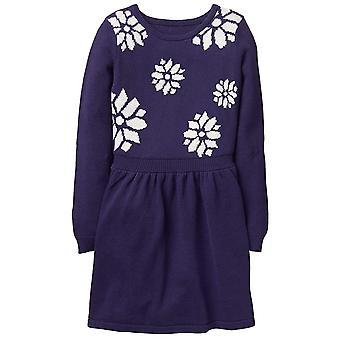 Gymboree Girls' Kleine Schneeflocke Pullover Kleid, Marine, 8
