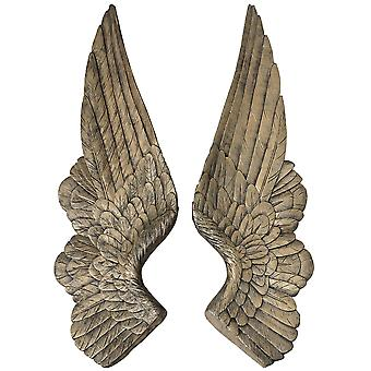 Hill Interiors Gold Angel Wings Decoration (Set Of 2)