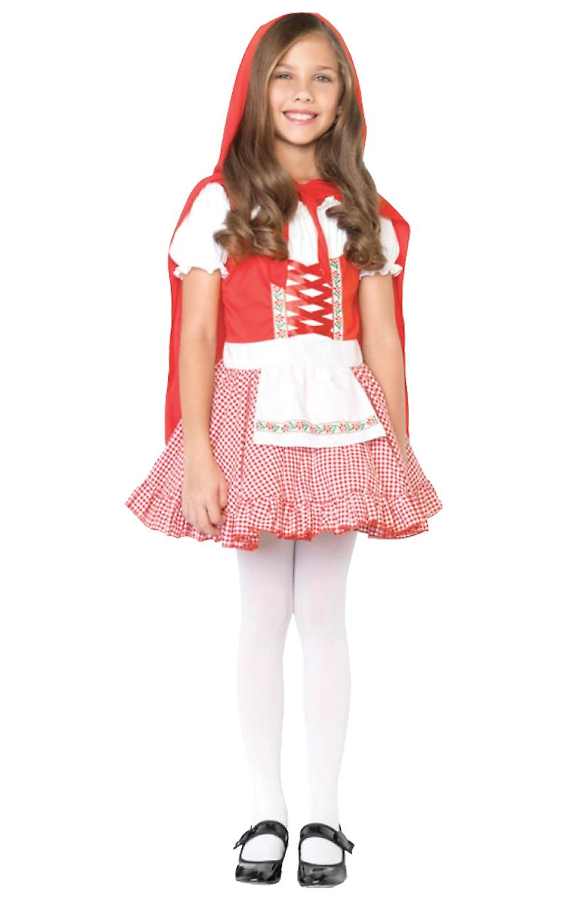 Girls Age 3 - 12 Years Little Red Riding Hood Fancy Dress Costume