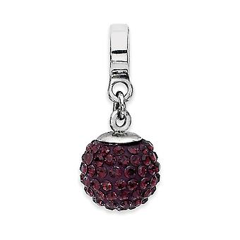 925 Sterling Silver Polished Reflections June Crystal Ball Dangle Bead Charm Pendant Necklace Jewelry Gifts for Women