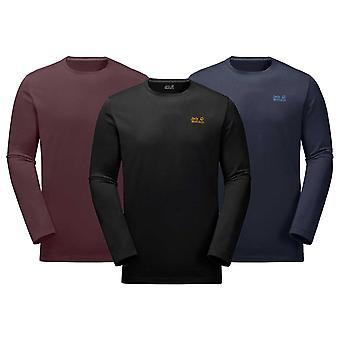 Jack Wolfskin Mens väsentliga långärmad T-Shirt
