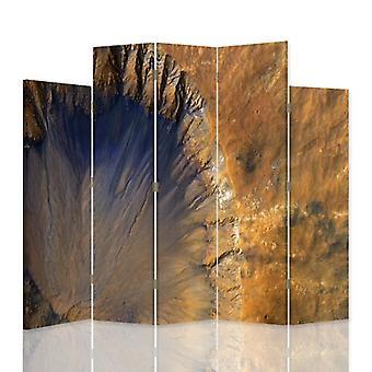 Dekorativa rumsavdelare, 5 paneler, dubbelsidig, canvas, strukturell abstraktion 3