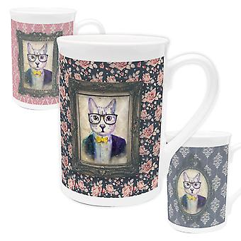Cat Bone China Mug