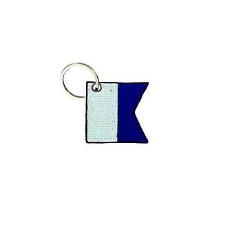 Cle Cles nyckel brode patch Ecusson flagga Maritine skrivelse en alfa