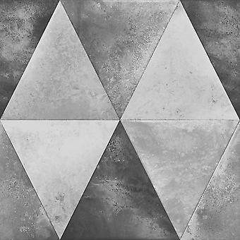 Caden metallic geometrisk tapet Muriva