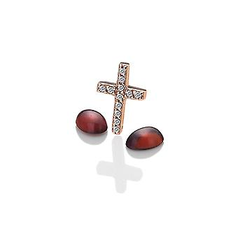 Anais Hot Diamonds Anais Rose Gold Sterling Silver Cross Charm AC018