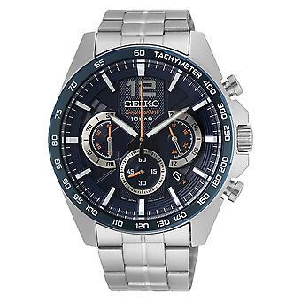 Seiko SSB345P1 Men's Black Dial Chronograph Wristwatch
