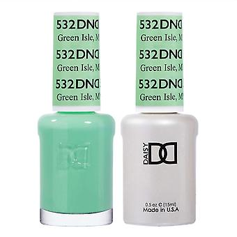 DND Duo Gel & Nail Polish Set - Green Isle MN 532 - 2x15ml
