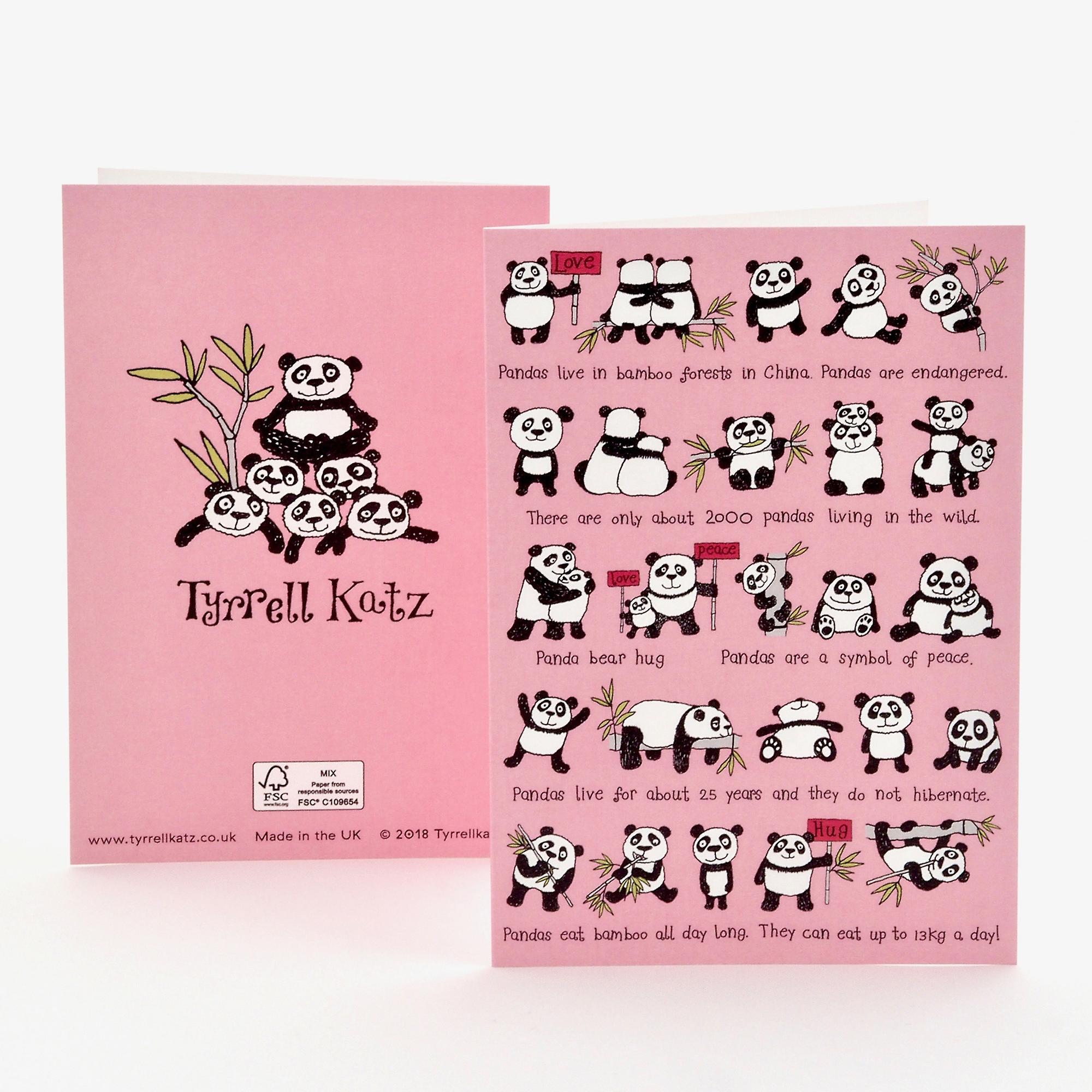 Tyrrell Katz Pandas Greetings Card