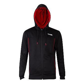 Gears of War logo honingraat technische volledige lengte rits hoodie mannelijke kleine