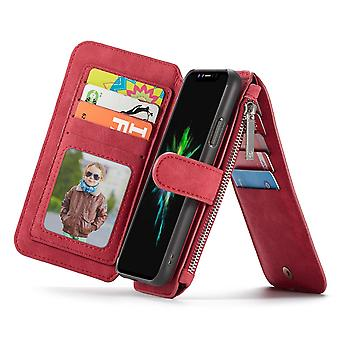 Case For Iphone X Red Multifunction Portfolio
