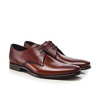Loake Leather Semi-Brogue Hannibal Shoes