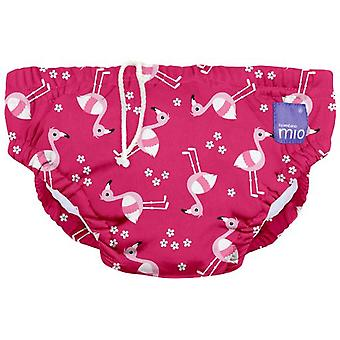 Bambino mio Diaper Reusable Pink Flamingo Swimming Trunks