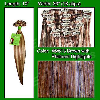 #6/613 Chestnut Brown Platina Koho kohdat-10 tuumaa