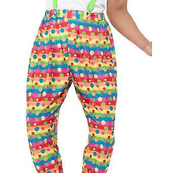 Klovn bukser voksen neon