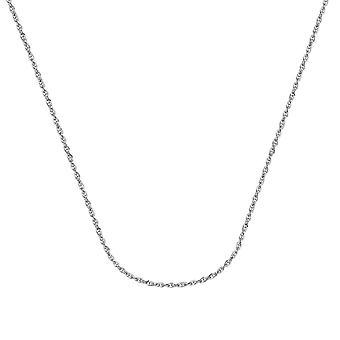 14k Vitt guld 2,6 mm Square Wire Double Rope Chain Halsband Hummer Claw Stängning Smycken Gåvor för kvinnor - Längd: 16 till