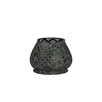 Light & Living Tealight 13.5x10cm - Mawar Antique Blue
