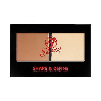 W7 Cosmetics Ebony Shape et Définir Face Poudre 6g