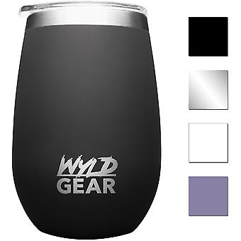 Wyld Gear 12 oz. Whiskey de acero inoxidable aislado y vaso de vino
